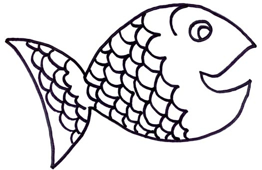 525x341 Fish black and white rainbow fish clipart black and white 5