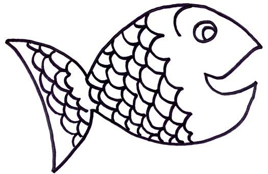 525x341 Fish Black And White Rainbow Fish Clipart Black And White 5