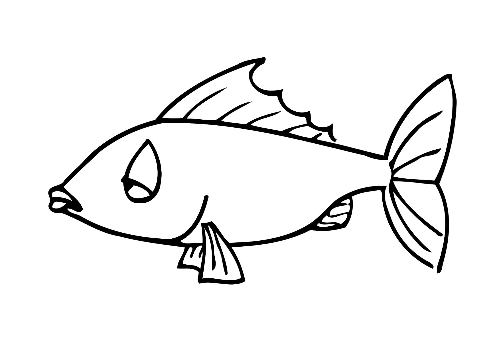 1750x1240 Koi Fish Coloring Page