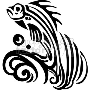 300x300 Royalty Free fish jumping out of water graphic 386021 vector clip