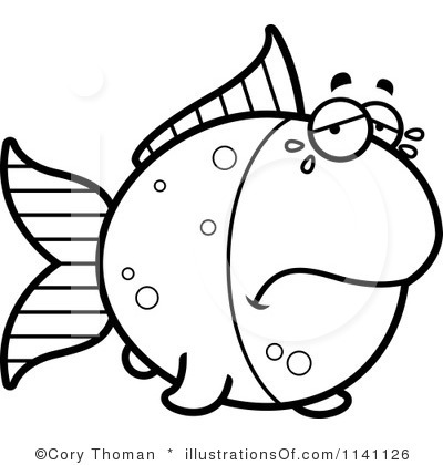 400x420 Sad Fish Clip Art