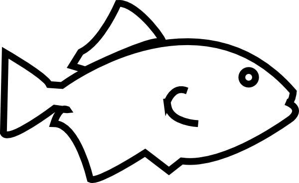 600x369 Simple Fish Outline Clip Art Free Clipart Images
