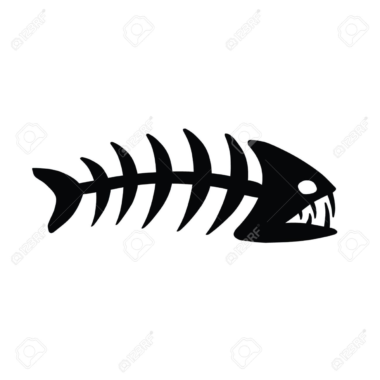 1300x1300 Bones Fish Clipart, Explore Pictures