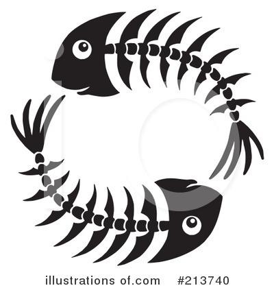 400x420 Fish Bones Clipart