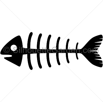 336x334 Fish skeleton silhouette clip art. Download free versions of the