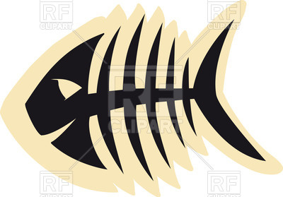 400x279 Sketch of fish skeleton