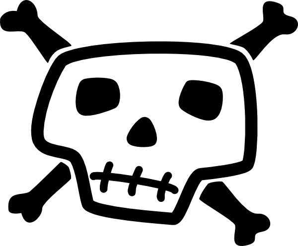 600x496 Skull And Bones 7 Clip Art