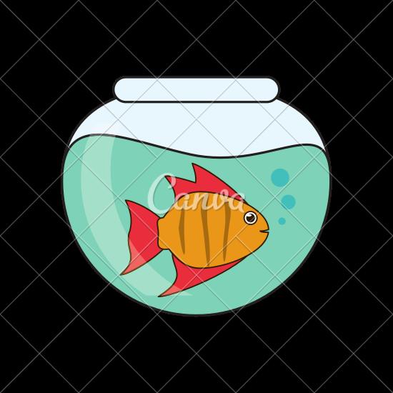 550x550 Fish Animal Cartoon Bowl Design