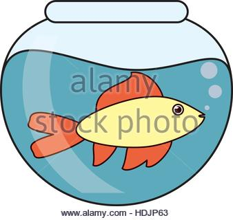 338x320 Cartoon Fish Bowl Stock Vector Art Amp Illustration, Vector Image