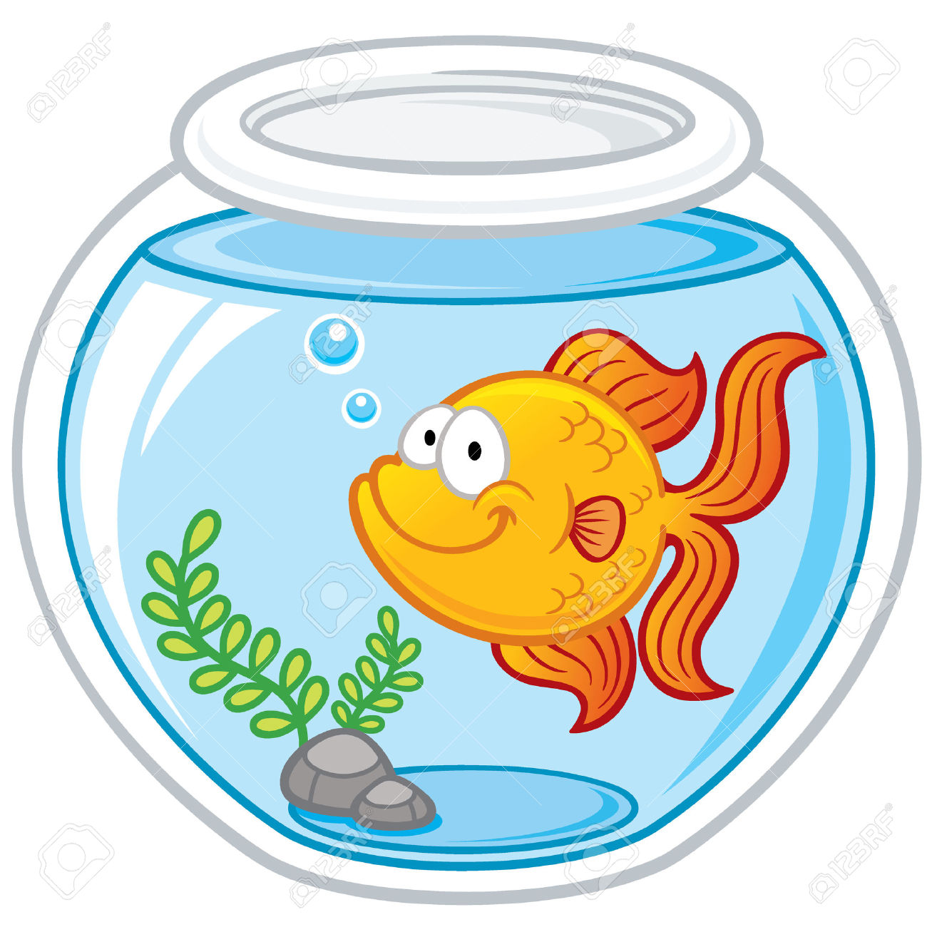 1300x1300 Fish Bowl Clipart Goldfish