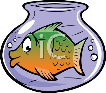 350x307 Cartoon Of A Large Fish In A Small Fish Bowl