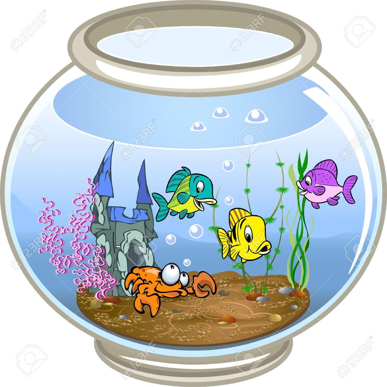 1300x1298 Fish Bowl clipart decoration
