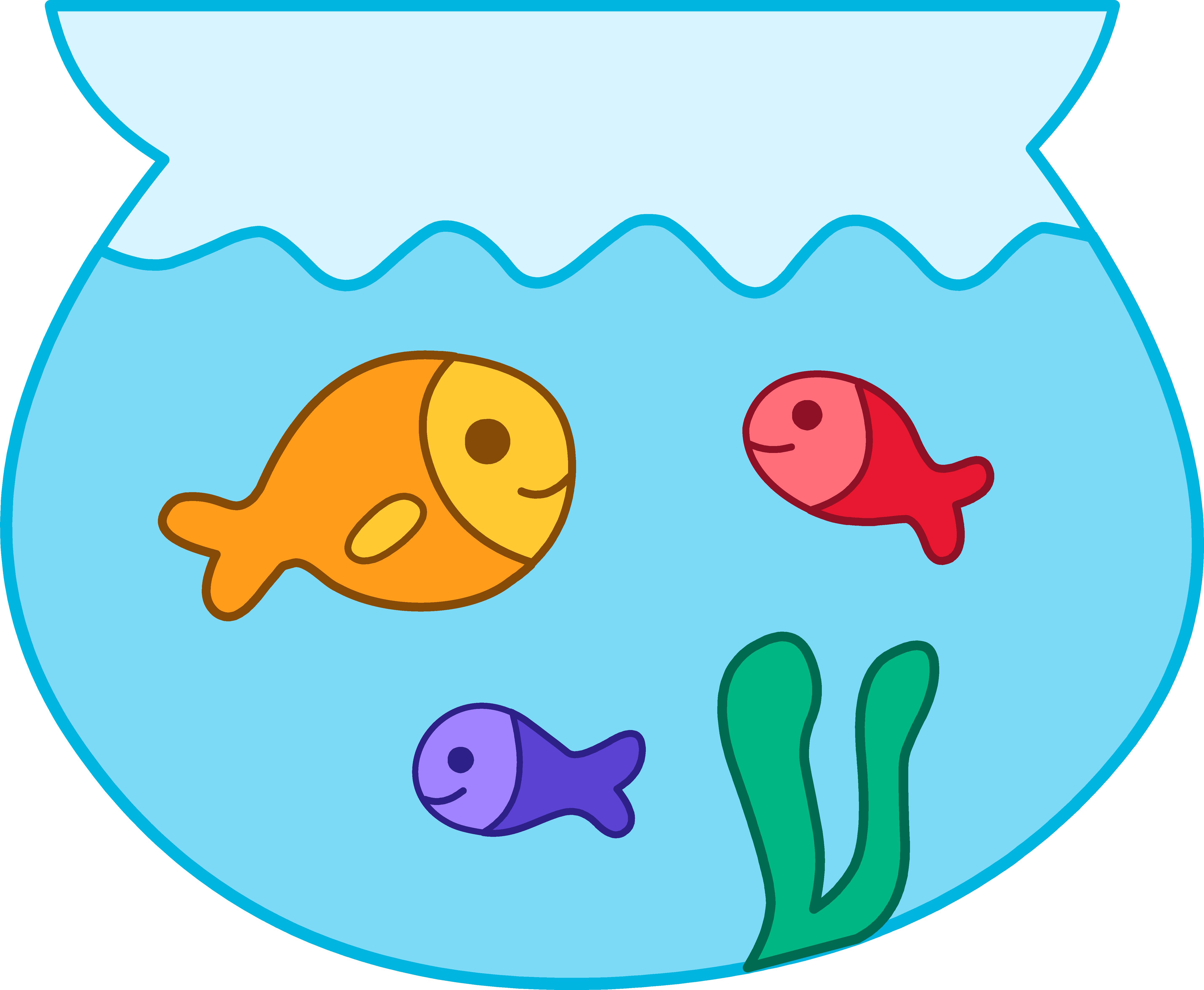 5712x4699 Fish bowl clip art