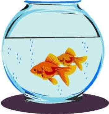 352x367 Fish bowl coloring pages preschool fish printable clip art