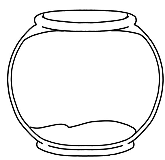 572x554 Fish bowl fish in clip art