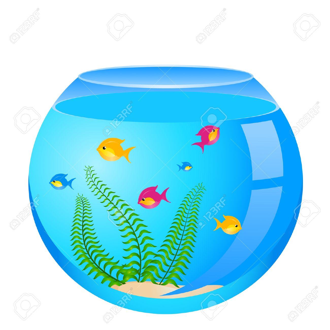 1300x1300 Fishtank clipart fish bowl