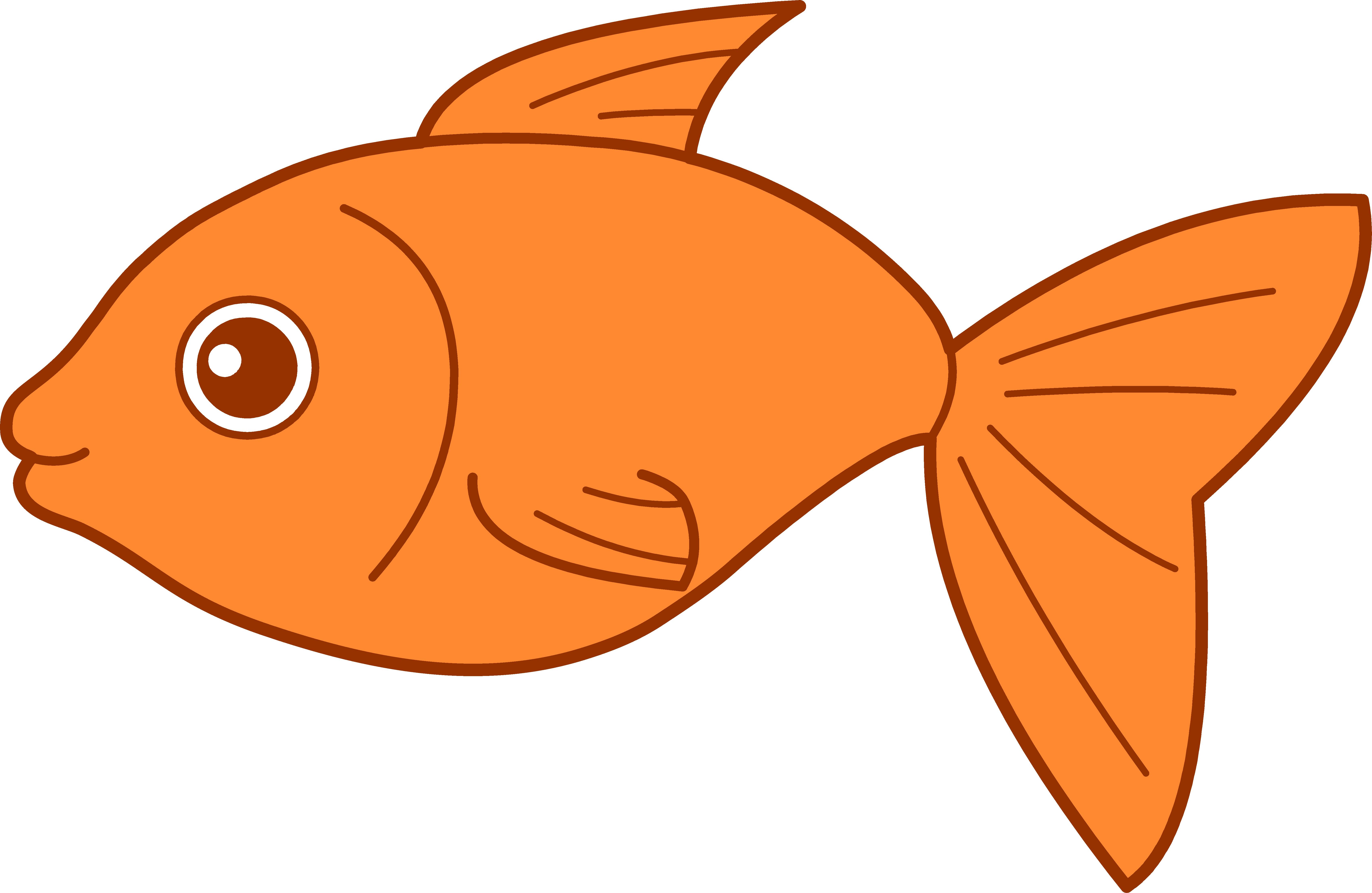 6805x4431 Gold Fish Clip Art Many Interesting Cliparts