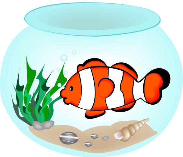 600x513 Vector image of a fish bowl.