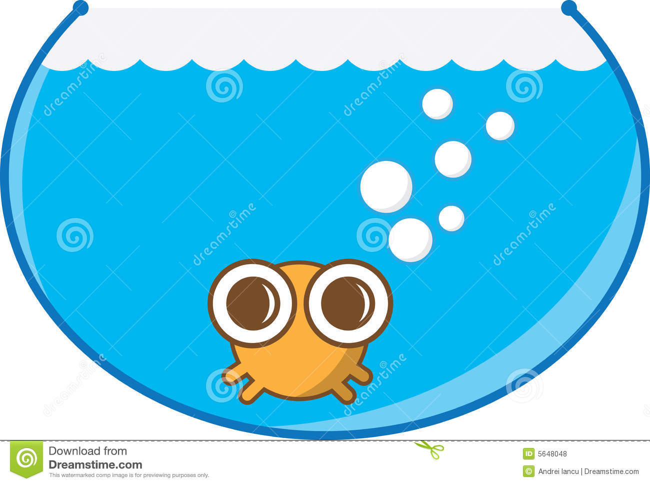 1300x970 Fish Bowl clipart cartoon