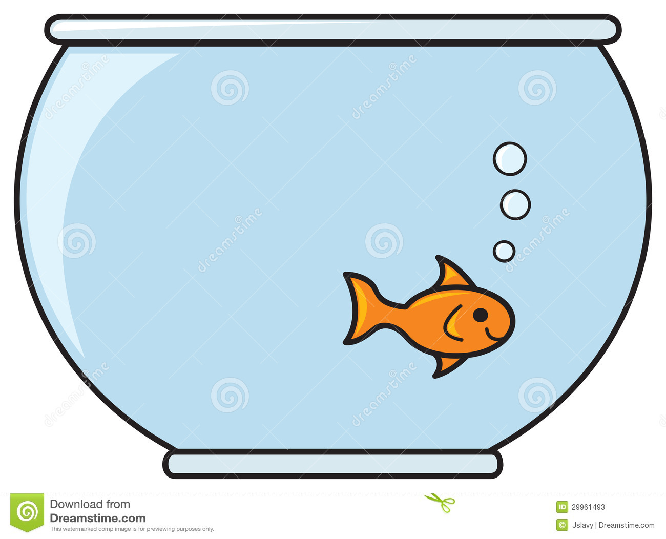 1300x1052 Gold fish bowl clipart