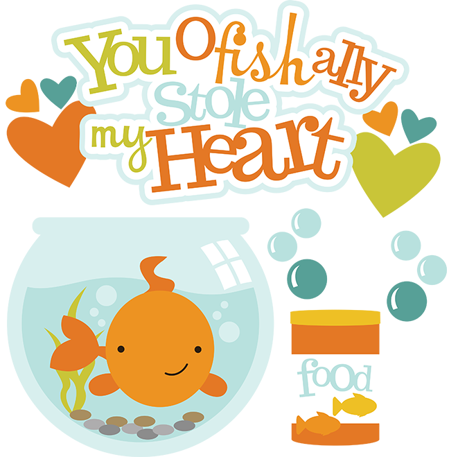 648x659 Ofishally Stole My Heart SVG fish clipart fish bowl clipart free