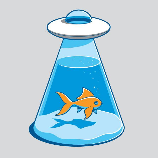 640x640 UFO Fishbowl T Shirt