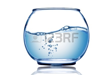 450x300 Water Wave And Water Bubble Inside The Fish Bowl Stock Photo