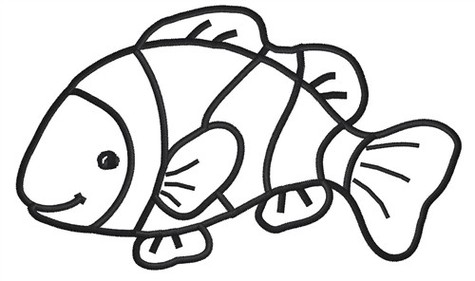 475x281 Clownfish clown fish cartoon clipart