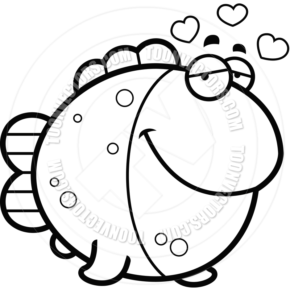 940x940 Fish Cartoon Black And White Collection (17+)