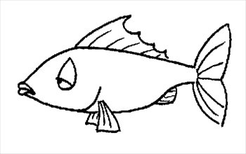 350x220 Fish black and white cute fish clip art free 3