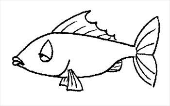 350x220 Fish Black And White Cute Fish Clip Art Free 3