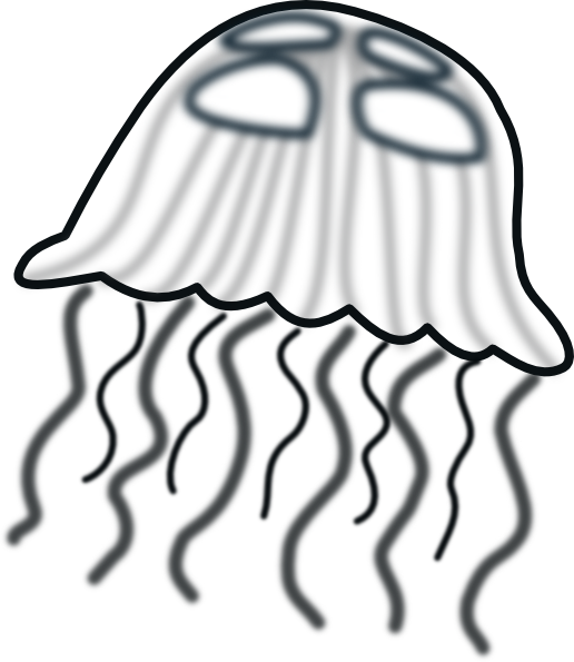 516x595 Jellies clipart black and white