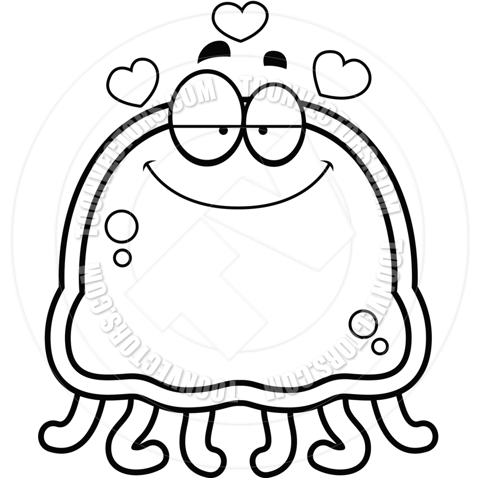 940x940 Jelly Fish Clip Art Black And White Clipart Panda