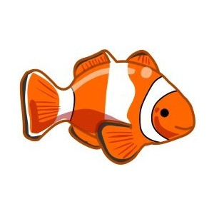 300x300 Clown Fish Clipart
