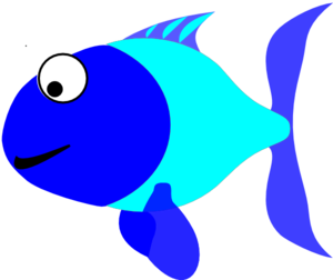 300x252 Blue And Turquoise Fish Clip Art