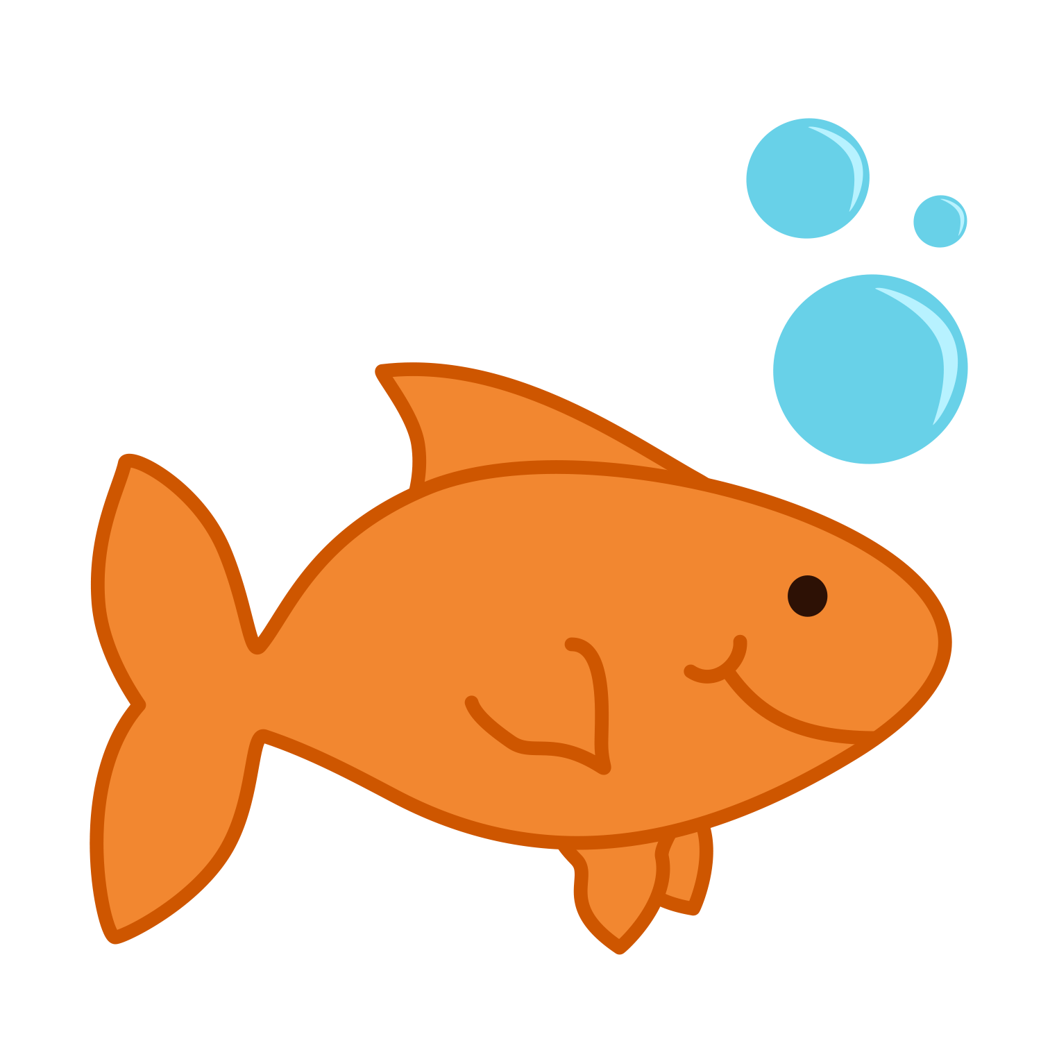 1500x1500 Gold Fish Clip Art