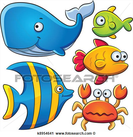 450x465 Purple Cartoon Fish Yellow Fish Clip Art Image Yellow Fish Image