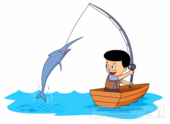 550x400 Boy Clipart Fish
