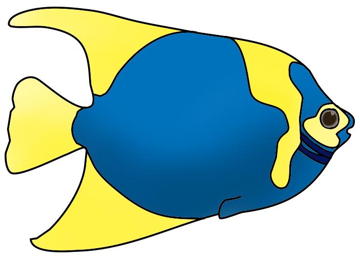 703x505 Colorful fish clip art