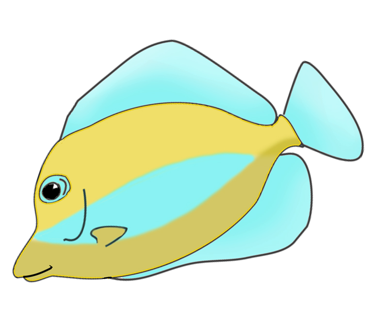 773x658 Image of Tropical Fish Clipart