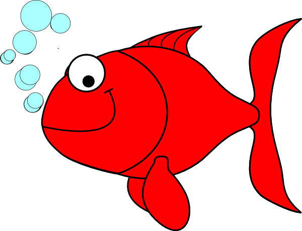 600x460 Red fish clip art free free clipart images