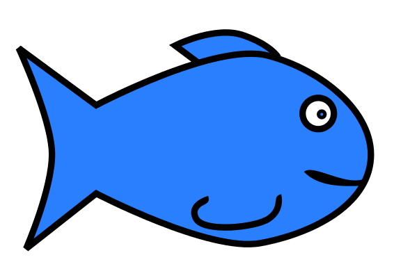 566x400 Simple fish clip art free clipart images 3