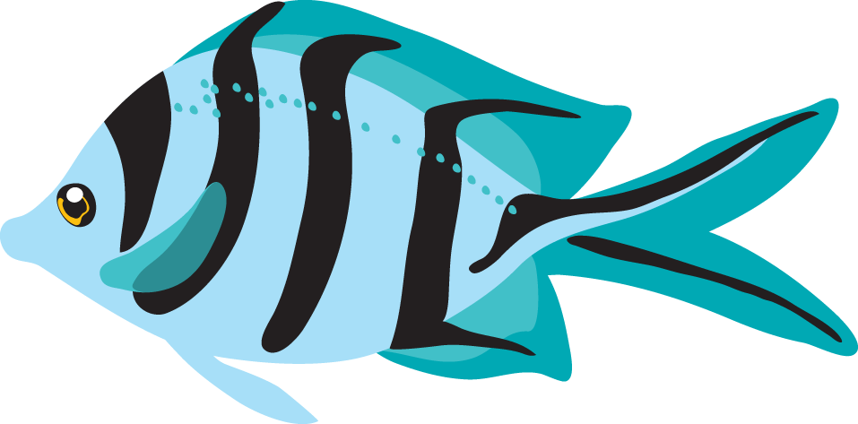 957x473 Tropical fish clip art free clipart images