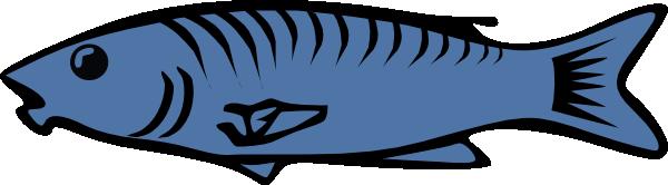 600x166 Cartoon fish clip art image