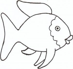 300x286 Rainbow Fish Clipart Black And White
