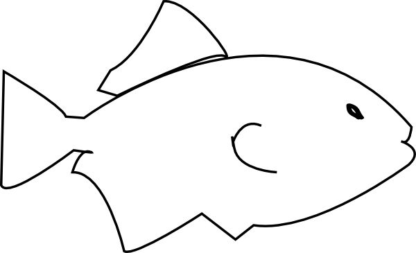 600x365 Image Of Fish Clipart Black And White