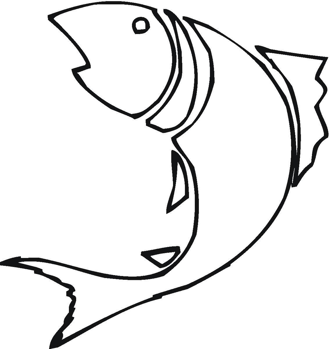 1135x1200 Best Fish Outline Clip Art