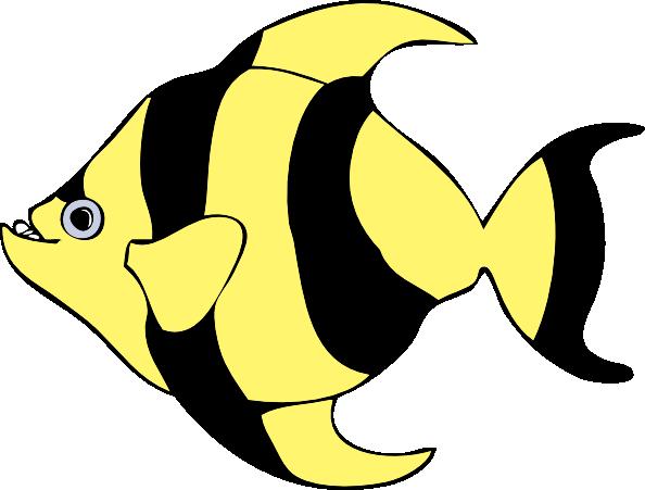 594x451 Striped Tropical Fish Clip Art