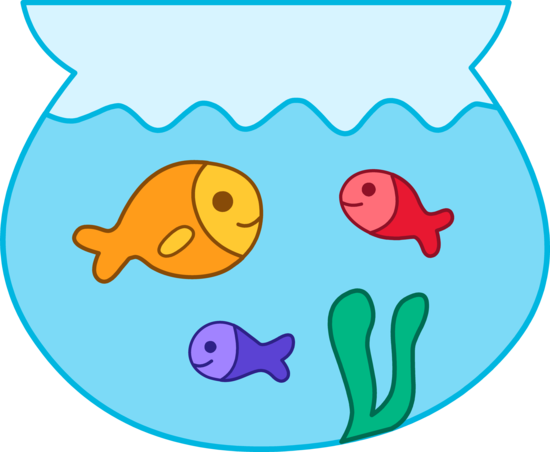 550x452 Fish Bowl Clipart