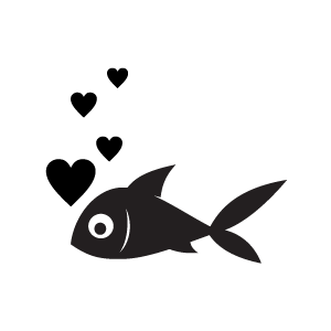 300x300 Fish Black And White Clown Fish Clip Art Black And White Free